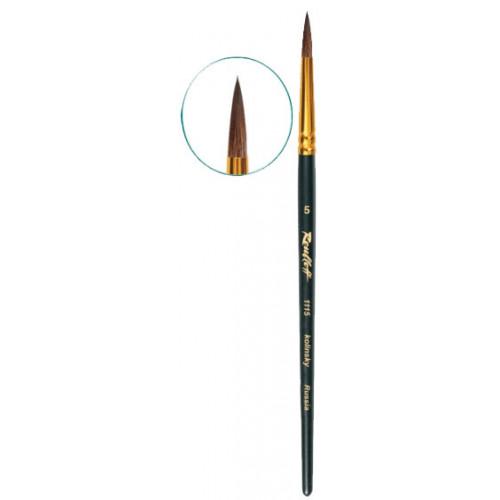 Кисть из колонка круглая 1115 «Рублев» кор. матовая ручка (№1)