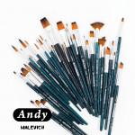 Кисть из синтетики Andy, веерная №8