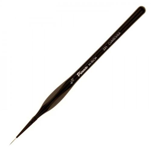 Кисть синтетика №6/0 круглая споттер Pinax Hi-Tech 221 короткая ручка