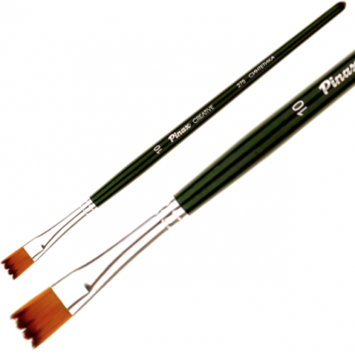 Кисть синтетика №8 плоская зигзаг Pinax Creative 275 короткая ручка