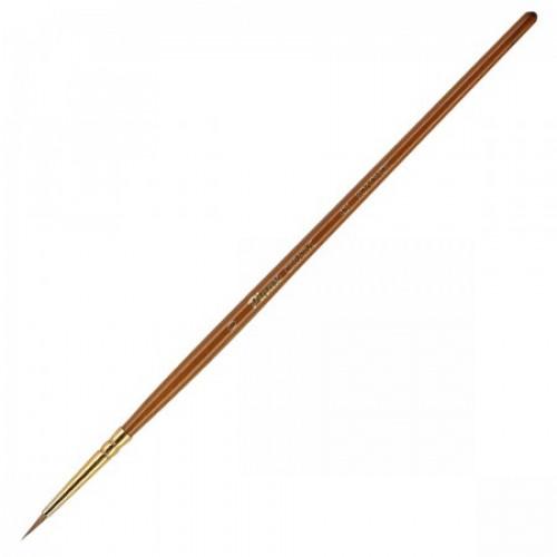 Кисть колонок №0 круглая Pinax Creative 431 короткая ручка