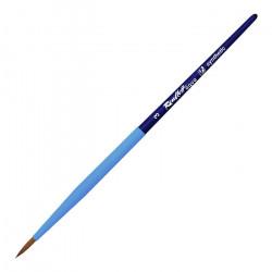 Кисть для акварели синтетика круглая AQUA SOFT-TOUCH №03 ручка короткая