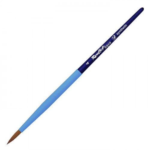 Кисть для акварели синтетика круглая AQUA SOFT-TOUCH №04 ручка короткая