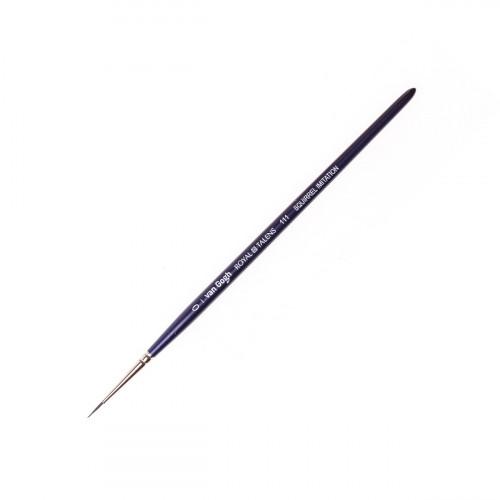 Кисть для акварели Van Gogh 111 имитация белки, круглая ручка короткая №0