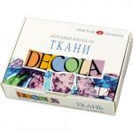 Набор акриловых красок по ткани Декола, 12 цветов по 20 мл