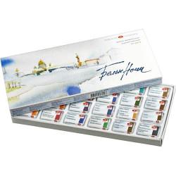 Набор акварели «Белые ночи» из 24 цветов в картонной коробке