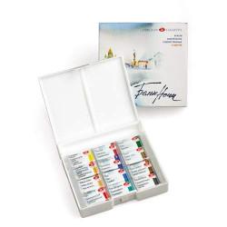Набор акварели «Белые ночи», 12 цветов в пластиковой коробке