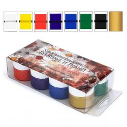 Набор акриловых красок по коже и ткани 8 цветов/20мл
