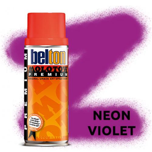 Аэрозольная краска Molotow Premium Neon Фиолетовая (Neon Violet) 400 мл