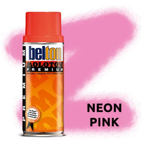 Аэрозольная краска Molotow Premium Neon Розовая (Neon Pink) 400 мл