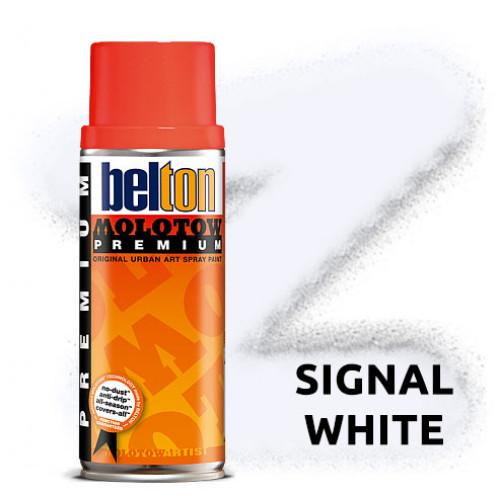 Аэрозольная краска Molotow Premium Белая (Signal White) 400 мл