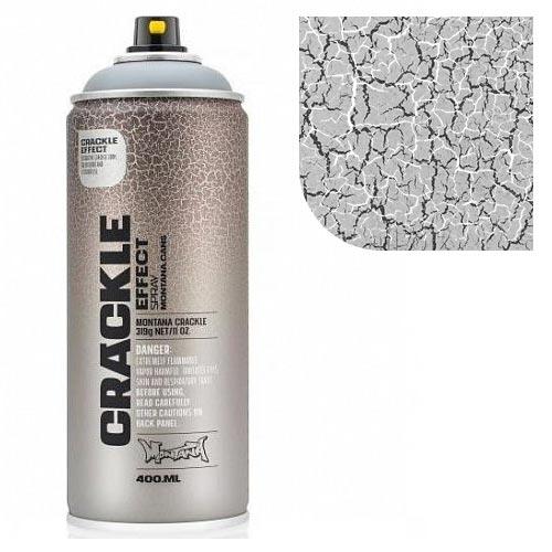 Аэрозольная краска Montana Кракелюр-эффект, серый 400 мл