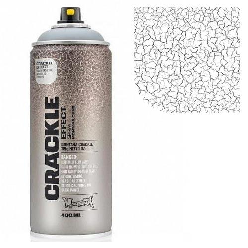 Аэрозольная краска Montana Кракелюр-эффект, белый 400 мл