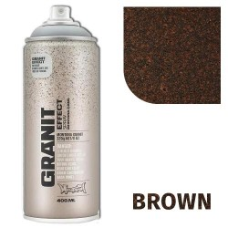 Аэрозольная краска Montana гранит-эффект, коричневая 400 мл