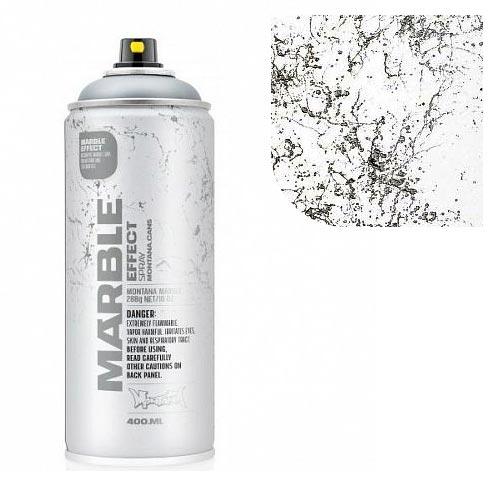 Аэрозольная краска Montana Мрамор-эффект, белая 400 мл
