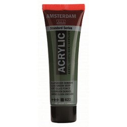 Акриловая краска Amsterdam №622 Зеленый оливковый насыщенный, туба 20 мл