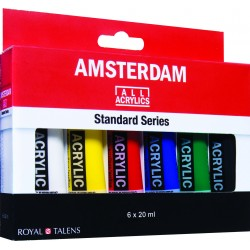 Набор акриловых красок Amsterdam Стандарт 6цв*20мл
