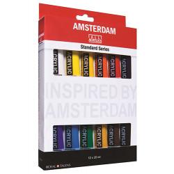 Набор акриловых красок Amsterdam Standart 12цв*20мл