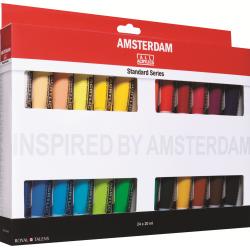 Набор акриловых красок Amsterdam Стандарт 24цв*20мл