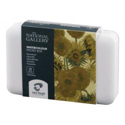 Набор акварели Van Gogh National Gallery  12цв кювета в пластиковый коробке