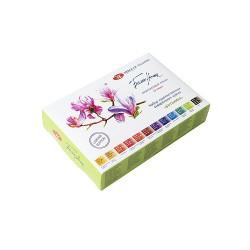 Набор акварельных красок Белые Ночи серия «Ботаника», 12 шт х 2,5 мл в пластике