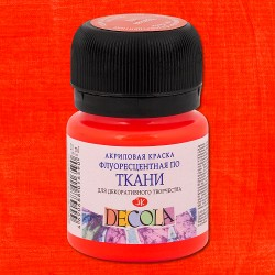 Краска по ткани Декола, флуоресцентный красный, 20мл