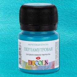 Краска по ткани Декола, бирюзовая перламутровая, 20мл
