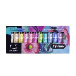 Гуашь «Малевичъ», пастельные цвета, 12 цветов по 12 мл