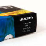 Набор масляных красок Малевичъ, 12 цветов по 20 мл.