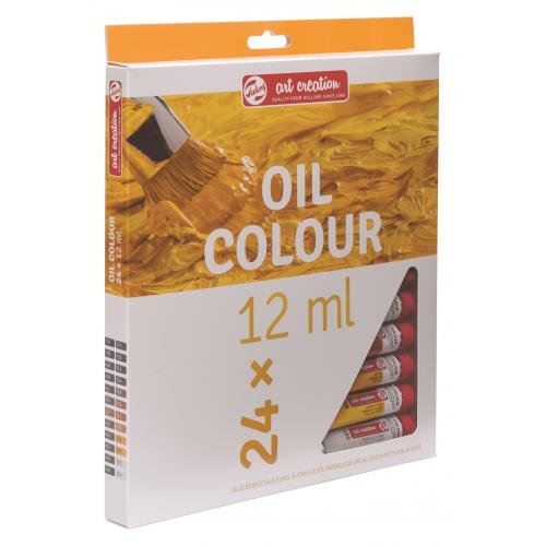 Набор масляных красок Art Creation 24 тубы по 12мл в картонной упаковке