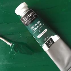"Зеленая темная, масло ""Tician"", туба 46 мл."