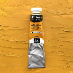 "Охра желтая, масло ""Tician"", туба 46 мл."
