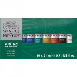 Набор масляных красок Winton,тюбики 10х21мл, в картонной коробке