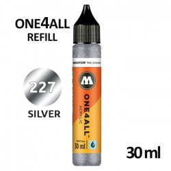 Заправка Molotow ONE4ALL акриловая (227) серебро, 30мл