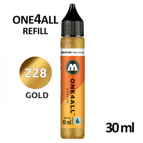 Заправка Molotow ONE4ALL акриловая (228) золото, 30мл