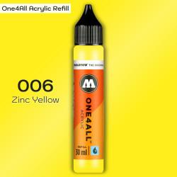 Заправка Molotow ONE4ALL акриловая 006 желтый, (Zinc Yellow), 30мл