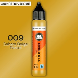 Заправка Molotow ONE4ALL акриловая 009 желтая сахара, (Sahara Beige Pastel), 30мл