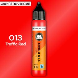 Заправка Molotow ONE4ALL акриловая 013 красный, (Traffic Red), 30мл