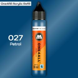 Заправка Molotow ONE4ALL акриловая 027 необычно-синий, (Petrol), 30мл