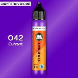 Заправка Molotow ONE4ALL акриловая 042 фиолетовый (смородина), (Currant), 30мл
