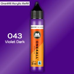 Заправка Molotow ONE4ALL акриловая 043 темно-фиолетовый, (Violet Dark), 30мл