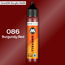 Заправка Molotow ONE4ALL акриловая 086 багровый, (Burgundy Red), 30мл