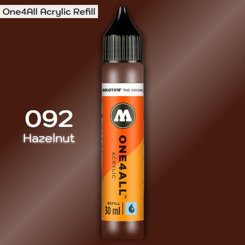 Заправка Molotow ONE4ALL акриловая 092 коричневый, (Hazelnut), 30мл