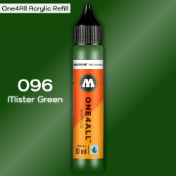 Заправка Molotow ONE4ALL акриловая 096 зеленый, (Mister Green), 30мл