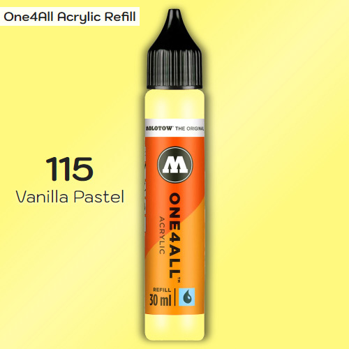 Заправка Molotow ONE4ALL акриловая 115 ваниль, (Vanilla Pastel), 30мл