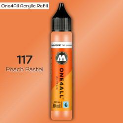 Заправка Molotow ONE4ALL акриловая 117 персиковый, (Peach Pastel), 30мл