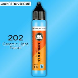 Заправка Molotow ONE4ALL акриловая 202 светло-голубой, (Ceramic Light Pastel), 30мл
