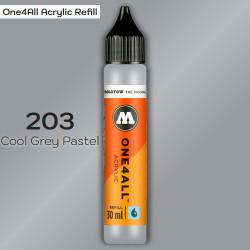 Заправка Molotow ONE4ALL акриловая 203 серый, (Cool Grey Pastel), 30мл