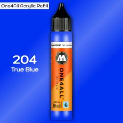Заправка Molotow ONE4ALL акриловая 204 синий, (True Blue), 30мл