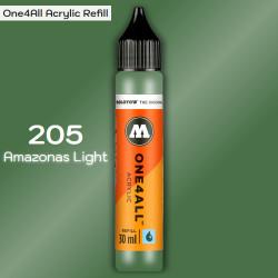 Заправка Molotow ONE4ALL акриловая 205 зеленая амазонка, (Amazonas Light), 30мл